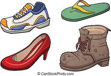 Footwear clip art. Vector cartoon illustration with simple...