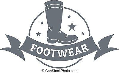 Footwear logo, vintage style