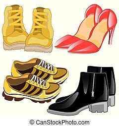 Footwear male and feminine