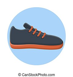 Footwear Sport Shoes Fashion Style. Flat Icon Vector Design