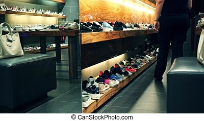 Footwear store zoom in video - Footwear store zoom in shot