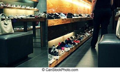 Footwear store zoom in video