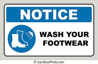 Footwear wash sign. Vector illustration