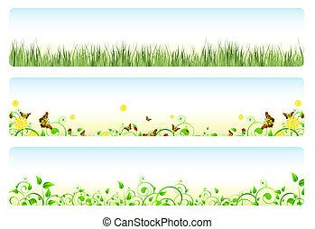 forår, bannere