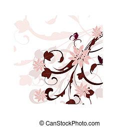 forår, blokken, mønster