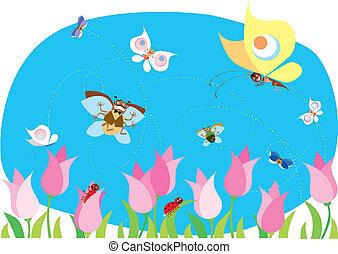 forår, bugs