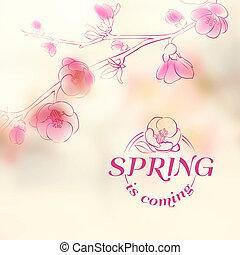 forår, cover., -, komme