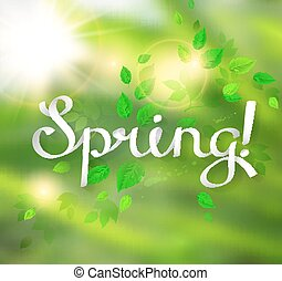 forår, glose, skriv