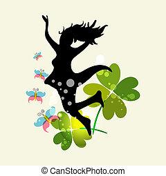 forår, kvinde, frihed