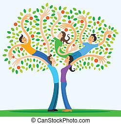 forældre, familie, beskytter