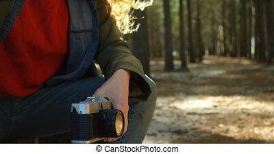 forêt, 4k, délassant, femme