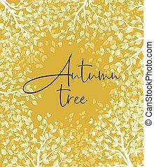 forêt automne, jaune