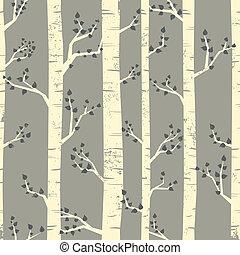 forêt, fond, bouleau