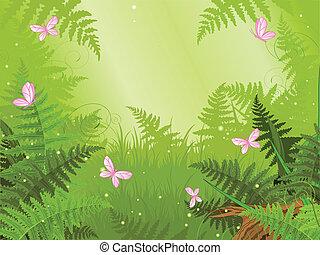 forêt, magie, paysage