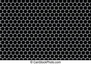Pattern - Black Hexagon