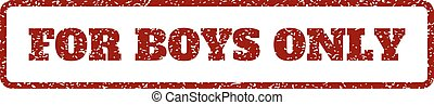 For Boys Only Rubber Stamp