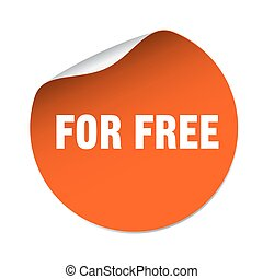 for free orange vector sticker