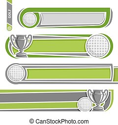 For golf records - Illustrations for use text on the theme ...