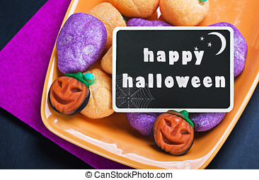 For Halloween candy and blackboard
