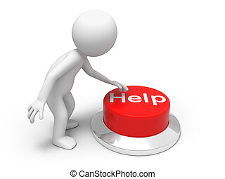 For help   - A man is pushing the button