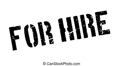 For Hire rubber stamp