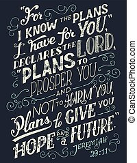 For I know the plans I have for you bible quote - For i know...