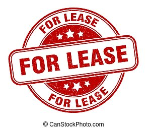 for lease stamp. for lease label. round grunge sign - for ...
