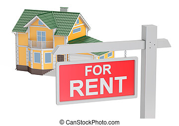 For rent concept, 3D rendering