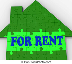 For Rent House Showing Rental Estate Agents