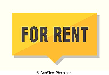 for rent price tag