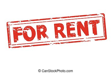 For rent - Rubber stamp with text for rent inside, vector...