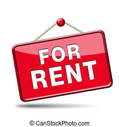 for rent sign - apartment or house for rent banner, renting...
