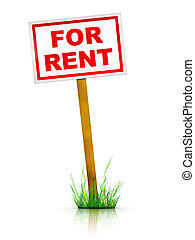 For Rent Sign - Real Estate Sign - For Rent
