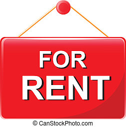 for rent  sign vector