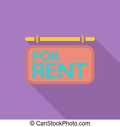 For rent. Single icon.