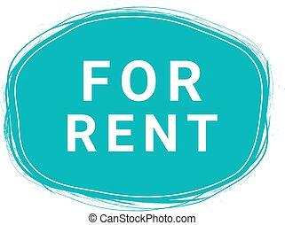 For Rent, Speech Bubble Banner, Element Design Template, App Icon, Vector Illustration.