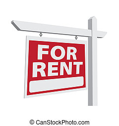 For Rent Vector Real Estate Sign Ready For Your Own Message.