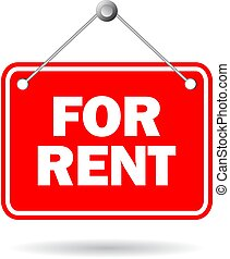 For rent vector sign isolated on white background