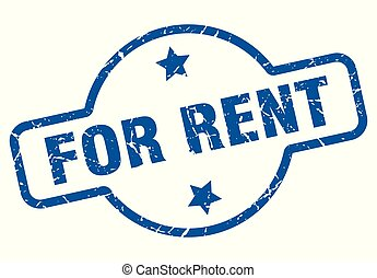 for rent vintage stamp. for rent sign