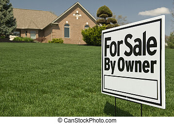 For Sale By Owner Sign In Front of