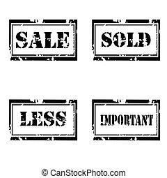 For sale grunge  stamp set