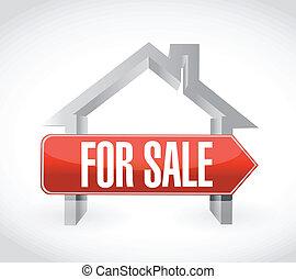 for sale home illustration design