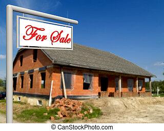 For sale, real estate sign.