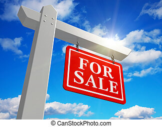 'For sale' real estate sign