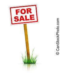 For Sale - Real Estate Sign %u2013 For sale. 2D artwork....