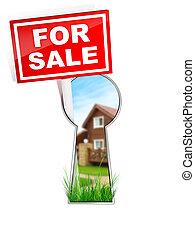 For Sale - Real Estate Tablet %u2013 For sale. 2D artwork....