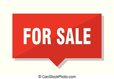 for sale red tag