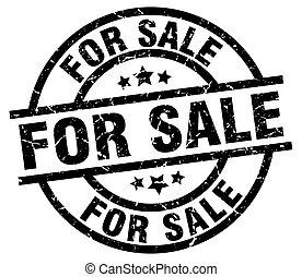 for sale round grunge black stamp