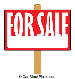 For Sale Sign - A for sale sign with plenty of copy space.