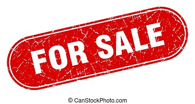for sale sign. for sale grunge red stamp. Label